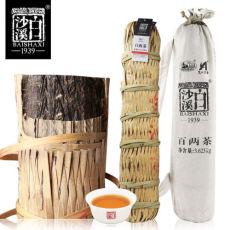 Baishaxi Bailiang Dark Tea Hua Juan Black Tea Slim with Bamboo Basket 3.625kg
