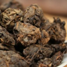 China Guangxi Hei Cha Aged Wild Liu Bao Lao Cha Tou Golden Bud Nuggets Dark Tea