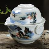 Tea Set Include 1 Pot 1 Cup Elegant Gaiwan Kettle Tea Pot Porcelain Teapot
