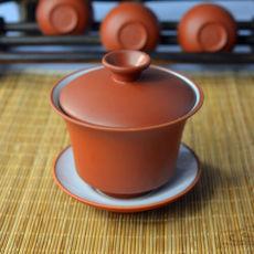 Red Yixing Zisha Clay Handmade Kungfu Gaiwan 100ml Chinese Purple Clay Teapot