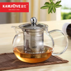 A-16 Kamjove Heat Resistant Glass Art Tea Cup Stainless Steel Filter 500ml