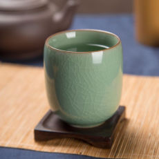 Chinese Longquan Celadon Teacup Japanese Office Ceramic Kungfu Tea Cup 160ml