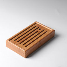 China Mini Portable Bamboo Serving Water Tray for Gongfu Tea Ceremony 22x11.5cm