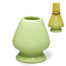 Bamboo Chasen Stand Porcelain Matcha Tea Whisk Holder Japanese Ceremony