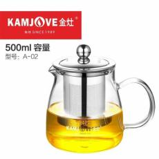 KAMJOVE A-02 Heat-Resistant Glass Art Tea Cup Teapot Gongfu Tea Maker 500ml