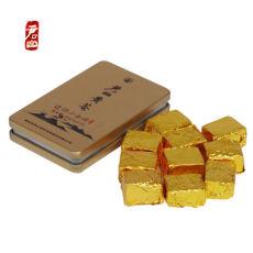 China Junshan Yellow Tea Mini Gold Brick Pressed 50g Box Hunan Yueyang Specialty