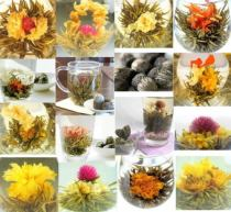120 Pcs Blooms Random Mix Blooming Flowering Flower Tea Blooming Tea