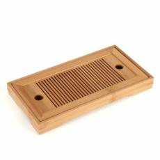 Small Bamboo Gongfu Tea Table Serving Tray 27*14cm Chinese Bamboo Tea Tray