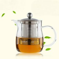 Kamjove A-14 Heat Resistant Clear Glass Teapot W/h Stainless Steel Infuser 450ml