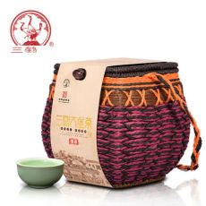 Premium Three Cranes Liupao Hei Cha Liu Bao Aged Black Dark Tea In Basket 500g