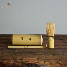 Travel Mini Bamboo Matcha Utensil Set - Japan Chasen Set and Scoop Matcha Whisk