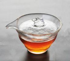 Handmade High Quality Satin Glass Gongfu Tea Gaiwan Brewing Vessel 120ml