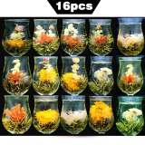 16pcs Different Kinds Blooming Flower Tea Handmade Artistic Blossom Flower Tea