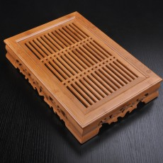 Tasteful Elegant Bamboo Chinese Gongfu Tea Table Serving Tray Tank 37cm*26cm