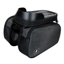 Sahoo[122007] Touch Screen Bike 6.5in Cell Mobile Phone Bag Front Frame Top Tube Cycling Pouch Double Side Bicycle Pannier