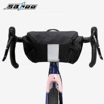 Sahoo [112007] Bicycle basket Bike Handlebar Bag Bicycle Front Tube Pocket handbag Pack Riding Cycling Supplies bicycle bag top tube pouch_