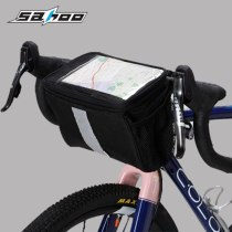 SAHOO[112001] Bicycle Head Bag Pvc Touch Screen Insulation Bag For Bicycle Nylon Rainproof Hand Bag Bike Accessories Bicycle Basket Ce