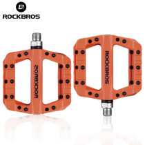 ROCKBROS.[2017-12C] Bicycle Pedal Road BMX Mountain Bike Flat Pedals Nylon Multi-Colors MTB Cycling Sports Ultralight Accessories 355g [2018-12]