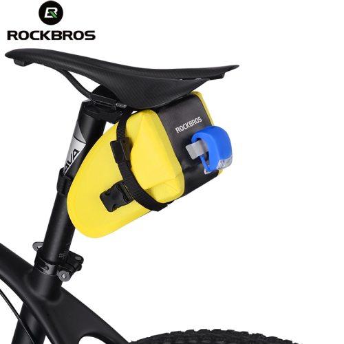 ROCKBROS Saddle Bag Bike Bag MTB Seat Bag Waterproof Black DHL
