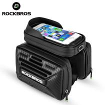 ROCKBROS.[B53] Bike Bag Phone TPU Touch Screen Waterproof Front Tube Bicycle Handlebar Bag Cycling Saddle Bag Bicycle Accessories