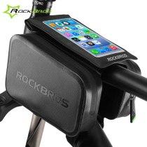 Rockbros.[AS-006]  Waterproof Road Mountain Bike Bag 6.0  Touchscreen Cycling Top Front Frame Tube Bag Bicycle Pannier Bike Accessories