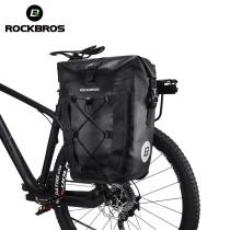 ROCKBROS.[AS-002]. MTB Road Bike  27L Bicycle Bag Waterproof Travel Reflective Riding Bike Rear Tail Seat Pannier Rear Seat Trunk Bike Bag