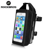 ROCKBROS.[B52]  New Bicycle Phone Bag 6.2 inch TPU Touch Screen MTB Road Bike Smartphone Reflective Waterproof Cycling Tube Front Bags