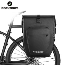 ROCKBROS.[AS-001]. 27L Bicycle Bags Waterproof Foldable Cycling MTB Bike Bags Reflective Panniers Long Travel Luggage Bag Bike Accessories