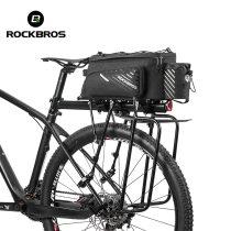 ROCKBROS.[A9-BK] Bicycle Bag Trunk Bag Pannier Nylon Bike Cycling MTB Outdoor Rack Rear Trunk Tote Bag Basket Bicycle Accessories