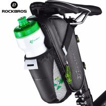 ROCKBROS.[C7-1] Bicycle Saddle Bag With Water Bottle Pocket Waterproof MTB Bike Rear Bags Cycling Rear Seat Tail Bag Bike Accessories