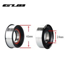GUB[BB86 24S] Bottom Bracket Press-fit Sealed Bearing BB Diameter 46*24/22mm For 68 73mm Length SHIMA-N0 SR-AM GXP Used