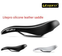 Litepro[C2] Ultra Comfort bmx leather saddle silicone bicycle saddle mtb seat cushion bicycle seat saddle