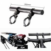 GUB G-202 Extended 31.8 25.4 22.2mm Road Bicycle Bike Double Handlebar Extension Mount Carbon Fiber Extender Light Lamp Holder