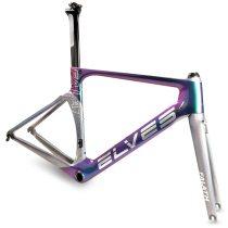 ELVES FALATH Bicycle Frame Light-sensitive color Carbon Road Bike Frame Super Light carbon  road Frame+Fork+headset
