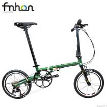 Fnhon Gust CR-MO Steel Folding Bike 16  305 Minivelo Mini velo Bike Urban Commuter Bicycle V Brake 9 Speed