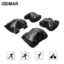 DMAR 4pcs Skiing Riding Sports Knee Elbow Support Protectors Bicycle Motorcycle Skateboard Outdoor Knee Pad Camouflage Safety