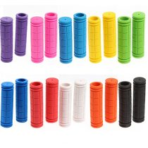 1 Pair 12cm Color Rubber Bicycle Grip Handlebar Set Mountain Bike Handle Non-Slip Bicycle Handle Bicycle Parts Bicycle Equipment