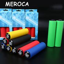 1Pair MEROCA MTB Bicycle Grips Mountain Bike Non-Slip Silicone Handlebar Grips+End Plugs 130mm Bike Accessories