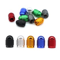 1Pcs Bicycle Wheel Tire Covered Protector Road MTB American Schrader Tyre valve Dustproof Bike Valve nozzle Cap 7 color DC0631