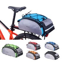 ROSWHEEL 14541 Bicycle 13L Carrier Bag Bike Rack Pannier Trunk Basket Back Seat Shelf Pouch Cycling Luggage Shoulder Handbag 14541