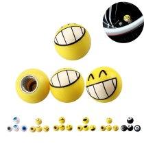 CARPRIE Car Tire Valve Stem Caps 4Pcs Yellow Smiley Happy Bike Car Motor Wheel Tyre Valve Dust Caps Dustcaps dropship m3