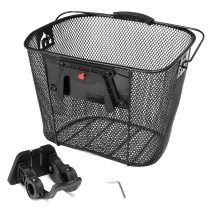 Mountain Bikes Front Folding Baskets Bicycle Metal Baskets Cycling Backsplash Quick Release Shopping Basket