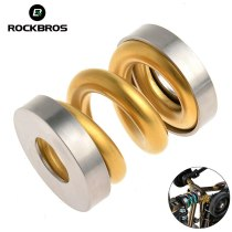 ROCKBROS Titanium Alloy Bike Shock Absorber Mountain Road Cycling Spring Rear Shock Parts Bicycle Accessories 4 Colors