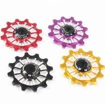 MTB Road Folding bike 12T Ceramics  Jockey Wheel Derailleur Pulley Positive Negative Gear Alloy Guide Bearing