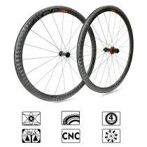 ECC N84 12K carbon wheels  Straight Pull Low Resistance Road Bike Wheel  40mm carbon Rims  700C Bicycle Wheels