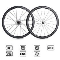 ECC N84A carbon wheels Straight Pull Low Resistance Road Bike Wheel 40mm carbon Rims 700C Bicycle Wheels