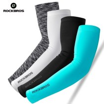ROCKBROS Sunscreen Anti-UV Arm Sleeves Cycling Arm Warmers Basketball Outdoor Volleyball Sleeves Sport Fitness Cuff Cover