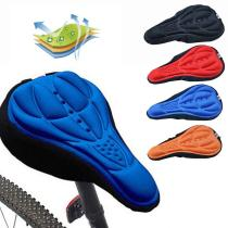 Bicycle Saddle 3D Soft Bike Seat Cover Comfortable Foam Seat Cushion Cycling Saddle Silicone for Bicycle Bike Accessories
