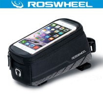 Roswheel 12496-A6 Bicycle Bag Touchscreen Mountain Road Bike Bag Front Frame Tube Cycling Bag Acessorios Bicicleta For 5.2'' 5.7'' Phone