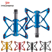 PROMEND Bicycle Pedal 3 Bearings Ultralight Mountain Bike Butterfly Pedals MTB Cycling Aluminum Alloy BMX Flat Pedals Bike Parts